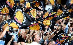 Exeter Chiefs fans celebrate   - Mandatory by-line: Joe Meredith/JMP - 28/05/2016 - RUGBY - Twickenham - London, England - Saracens v Exeter Chiefs - Aviva Premiership Final