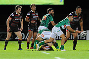 Fast ball made the difference for Benetton in the Guinness Pro 14 2017_18 match between Edinburgh Rugby and Benetton Treviso at Myreside Stadium, Edinburgh, Scotland on 15 September 2017. Photo by Kevin Murray.