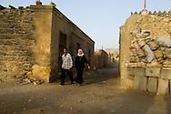 Egypt. Cairo - north cemetery tombs, houses and mausoleum. in old islamic Cairo  +