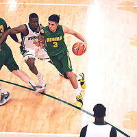 3rd year guard, Kameron Vales (3) of the Regina Cougars during the Men's Basketball Home Game on Sat Feb 02 at Centre for Kinesiology,Health and Sport. Credit: Arthur Ward/Arthur Images