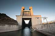 Entrance to the John Day Lock which provides passage to ships along the Columbia River.