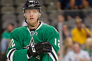 DALLAS, TX - SEPTEMBER 26:  Alex Chiasson #12 of the Dallas Stars looks on against the Colorado Avalanche in an NHL preseason game on September 26, 2013 at the American Airlines Center in Dallas, Texas.  (Photo by Cooper Neill/Getty Images) *** Local Caption *** Alex Chiasson