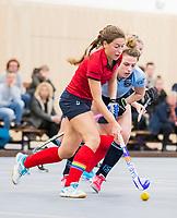 DELFT -  Klaartje Mientjes (Nijm)     tijdens de zaalhockey competitiewedstrijd Laren-Nijmegen. COPYRIGHT KOEN SUYK