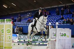 Winkelmans Senne, (BEL), Baxte De Loou <br /> Super Final Youth Cup VLP-LRV<br /> Vlaanderen Kerstjumping - Memorial Eric Wauters - <br /> Mechelen 2015<br /> © Hippo Foto - Dirk Caremans<br /> 30/12/15