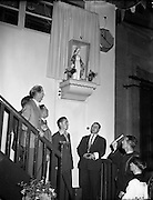24/07/1954<br /> 07/24/1954<br /> 24 July 1954<br /> <br />  Unveiling of Statue by Fr Cassian OFM for 'Liberty' at transport house