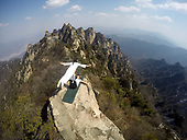 Yoga Performed at 2,000 meters on Laojun Mountain