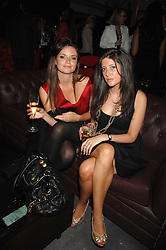 Left to right, LADY NATASHA RUFUS-ISAACS and     at a party to celebrate the publication of Nain Attallah's book'Fulfilment & Betrayal' held at The Bluebird, King's Road, London on 1st May 2007.<br />
