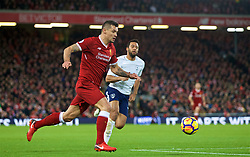 LIVERPOOL, ENGLAND - Sunday, February 4, 2018: Liverpool's Dejan Lovren during the FA Premier League match between Liverpool FC and Tottenham Hotspur FC at Anfield. (Pic by David Rawcliffe/Propaganda)