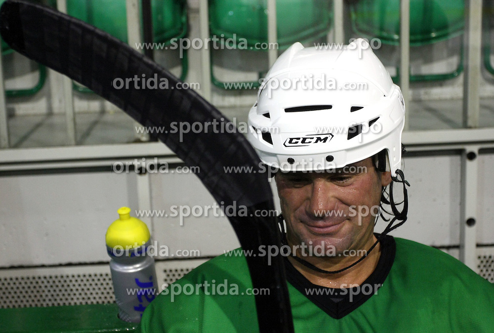 Player Todd Elik of Canada at second ice hockey practice of HDD Tilia Olimpija on ice in the new season 2008/2009, on August 19, 2008 in Hala Tivoli, Ljubljana, Slovenia. (Photo by Vid Ponikvar / Sportal Images)
