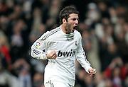 Real Madrid's Gonzalo Higuain celebrates during La Liga match, November 05, 2009.