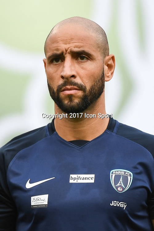 Idriss Ech Chergui of Paris fc during the French Ligue 2 match between Paris FC and Clermont at Stade Charlety on July 28, 2017 in Paris, France. (Photo by Anthony Dibon/Icon Sport)