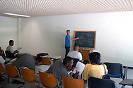 Roma 29 Agosto 2008.Centro accoglienza rifugiati di Castelnuovo di Porto..La scuola d'taliano.Refugee acceptance centre of Castelnuovo di Porto..The Italian school