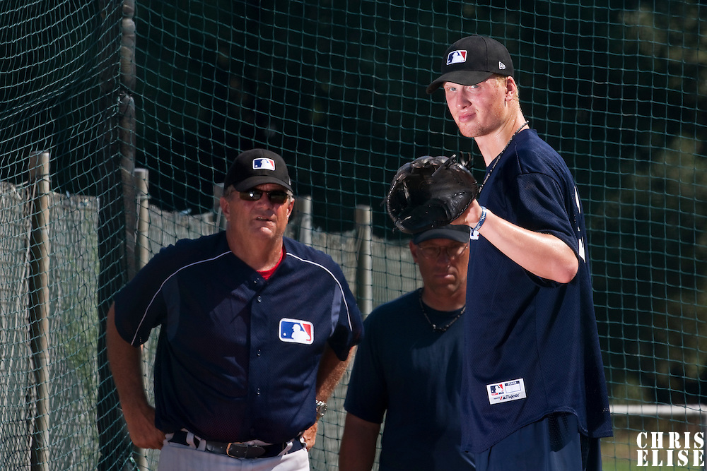 Baseball - MLB Academy - Tirrenia (Italy) - 19/08/2009 - Oscar Carlstedt (Sweden), Bill Holmberg