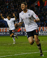 Photo: Steve Bond/Sportsbeat Images.<br /> Leicester City v West Bromwich Albion. Coca Cola Championship. 08/12/2007.  Zoltan Gera turns away to celebrate scoring