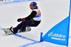 DUNAND Sebastien, SB-UL FRA, Banked Slalom at the WPSB_2019 Para Snowboard World Cup, La Molina, Spain