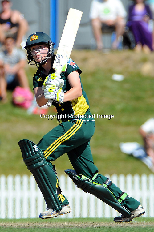 Australian player Shelley Nitschke. New Zealand White Ferns v Australia. Women's Rose Bowl twenty/20 cricket. Saxton Oval, Nelson, New Zealand. Thursday 30 December 2010. Photo: Chris Symes / www.photosport.co.nz