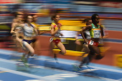 March 2, 2018 - Birmingham, England, United Kingdom - Genzebe Dibaba of Ethiopia at 1500 meter semi final at World indoor Athletics Championship 2018, Birmingham, England on March 2, 2018. (Credit Image: © Ulrik Pedersen/NurPhoto via ZUMA Press)