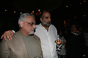 George Verghese and Sharanbir Britnath , Other,Riyas Komu and Peter Drake. - VIP  launch of Aicon. London's largest contemporary Indian art gallery. Heddon st. and afterwards ant Momo.15 Marc h 2007.  -DO NOT ARCHIVE-© Copyright Photograph by Dafydd Jones. 248 Clapham Rd. London SW9 0PZ. Tel 0207 820 0771. www.dafjones.com.