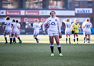 Zoe Harrison of England<br /> <br /> Photographer Simon King/Replay Images<br /> <br /> Six Nations Round 3 - Wales Women v England Women - Sunday 24th February 2019 - Cardiff Arms Park - Cardiff<br /> <br /> World Copyright © Replay Images . All rights reserved. info@replayimages.co.uk - http://replayimages.co.uk