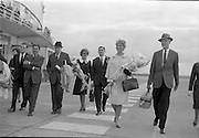 31/07/1962<br /> 07/31/1962<br /> 31 July 1962<br /> Arrival of Mr F. Kirk Johnston, Chairman, Ambassador Oil Corporation and President of Ambassador Irish Oil Company and James Stewart actor and Ambassador shareholder, at Dublin Airport. The party on the tarmac heading for the terminal with Jimmy Stewart on right.