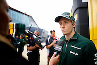 MOTORSPORT - F1 2013 - BRITISH GRAND PRIX - GRAND PRIX D'ANGLETERRE - SILVERSTONE (GBR) - 28 TO 30/06/2013 - PHOTO : FREDERIC LE FLOC'H / DPPI - PIC CHARLES (FR) CATERHAM RENAULT CT03 - AMBIANCE - PORTRAIT