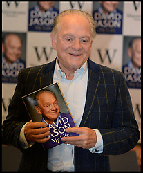 David Jason - book signing. <br /> David Jason, Only Fools and Horses star greets fans as he signs copies of his new book, 'My Lovely Jubbly Life', Waterstones, London, United Kingdom. Thursday, 10th October 2013. Picture by Andrew Parsons / i-Images
