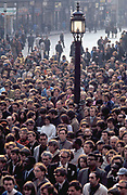 A crowd of people on the street at a Civil Rights, Peace demonstration, London, UK 1970