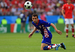 Darijo Srna of Croatia during the UEFA EURO 2008 Group B soccer match between Austria and Croatia at Ernst-Happel Stadium, on June 8,2008, in Vienna, Austria.  (Photo by Vid Ponikvar / Sportal Images)