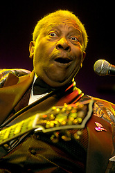 BB King and Lucille play the opening night of his European Farewell Tour at the Hallam FM Arena Sheffield<br /> <br /> 29 March 2006<br /> <br /> Image © Paul David Drabble <br /> www.pauldaviddrabble.co.uk