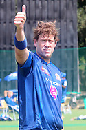 Jacob Oram during the Mumbai Indians nets session held at the Sawai Mansingh Stadium in Jaipur on the 26th September 2013<br /> <br /> Photo by Ron Gaunt-CLT20-SPORTZPICS <br /> <br /> Use of this image is subject to the terms and conditions as outlined by the CLT20. These terms can be found by following this link:<br /> <br /> http://sportzpics.photoshelter.com/image/I0000NmDchxxGVv4