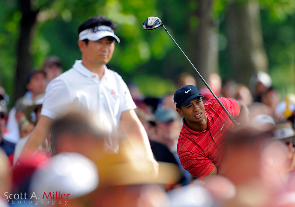 Aug. 16, 2009: Chaska, MN, USA; Tiger Woods (USA) during the 2009 PGA Championship at Hazeltine National Golf Club.  ..©2009 Scott A. Miller
