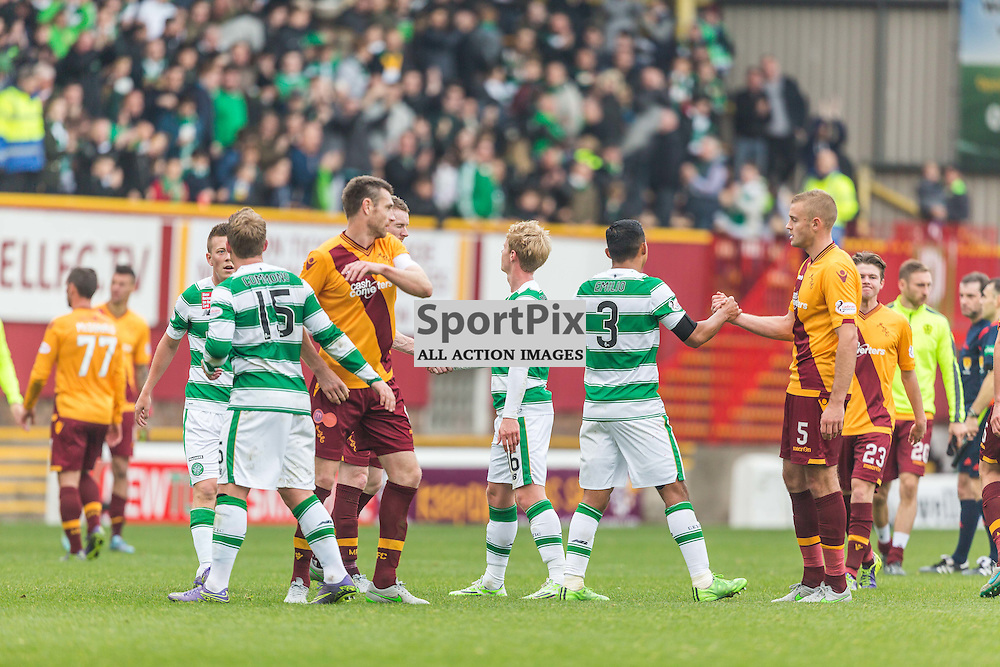 Players after the Scottish Premiership match between Motherwell and Celtic (c) ROSS EAGLESHAM | Sportpix.co.uk