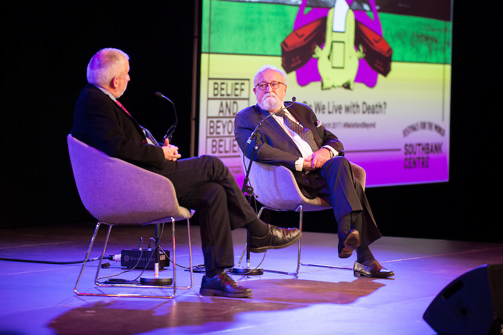 Polish composer Krzysztof Penderecki in a pre concert talk with Gerard McBurney