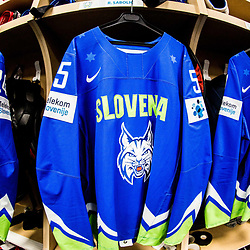 20170511: FRA, Ice Hockey - IIHF World Championship 2017, Dressing room of Team Slovenia