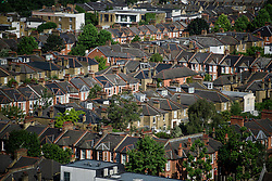 © Licensed to London News Pictures. 14/06/2017. London, UK. A view over the rooftops of Kensal Green and Queens parkwest London showing . Photo credit: Ben Cawthra/LNP