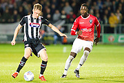 Grimsby Town defender Luke Hendrie in possession of the ball  during the EFL Sky Bet League 2 match between Salford City and Grimsby Town FC at Moor Lane, Salford, United Kingdom on 17 September 2019.
