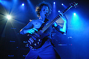 Bassist Ryan Martinie of Mudvayne performing at the Music Box (The Fonda Theater) in Los Angeles. (Charles Hall/challphotos.com)