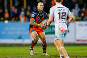 Castleford Tigers replacement Nathan Massey (14) in action  during the Betfred Super League match between Castleford Tigers and Widnes Vikings at the Jungle, Castleford, United Kingdom on 11 February 2018. Picture by Simon Davies.