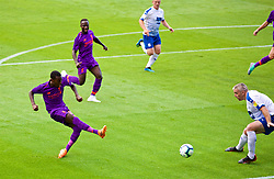 BIRKENHEAD, ENGLAND - Tuesday, July 10, 2018: Liverpool's Rafael Camacho scores the first goal during a preseason friendly match between Tranmere Rovers FC and Liverpool FC at Prenton Park. (Pic by Paul Greenwood/Propaganda)