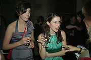 Anna Watson and Abigail Matson, Book party for Sepulchure by Kate Mosse. Crypt at at. Martin in the Fields. Trafalgar Sq. London. 31 October 2007. -DO NOT ARCHIVE-© Copyright Photograph by Dafydd Jones. 248 Clapham Rd. London SW9 0PZ. Tel 0207 820 0771. www.dafjones.com.