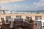 Israel, Tel Aviv, a seaside cafe and restaurant