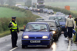 Traffic on the Sunday, at the T in the Park music festival, held at Balado, Kinross in Fife, Scotland, on the weekend of Saturday 8 July and Sunday 9 July 2000..