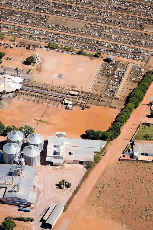Cattle ranch in Agua Boa, Mato Grosso, Brazil, August 8, 2008..Daniel Beltra/Greenpeace