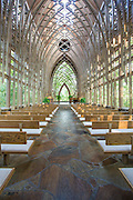 The Mildred B. Cooper Memorial Chapel on Wednesday, Oct. 1, 2014, in Bella Vista, Ark. The chapel was designed by E. Fay Jones and constructed in 1988. Photo by Beth Hall