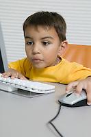 Boy Using Computer