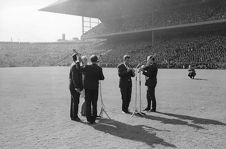 "GAA All Ireland Minor Football Final Sligo v. Cork 22nd September 1968 Croke Park..The ""Charioteers"" (unsure if correct) Brendan O'Duill, Sean Potts provided entertainment before the senior game   ..22.9.1968  22nd September 1968"