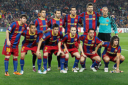 03-05-2011 VOETBAL: SEMI FINAL CL  FC BARCELONA - REAL MADRID: BARCELONA<br /> FC Barcelona team photo<br /> *** NETHERLANDS ONLY***<br /> ©2011-FH.nl- EXPA/ Alterphotos/ Acero