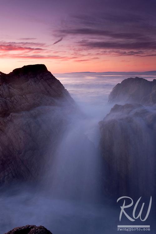 17 Mile Drive Waterfall Seascape, Pacific Grove, California