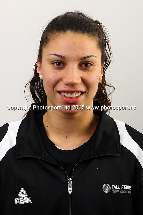 Chevannah Paalvast, New Zealand Tall Ferns, Womens National Basketball Team Headshots. Bruce Pullman Lodge, Auckland. 17 July 2015. Copyright Photo: William Booth / www.photosport.nz