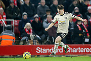 Manchester United midfielder Daniel James (21) during the Premier League match between Liverpool and Manchester United at Anfield, Liverpool, England on 19 January 2020.